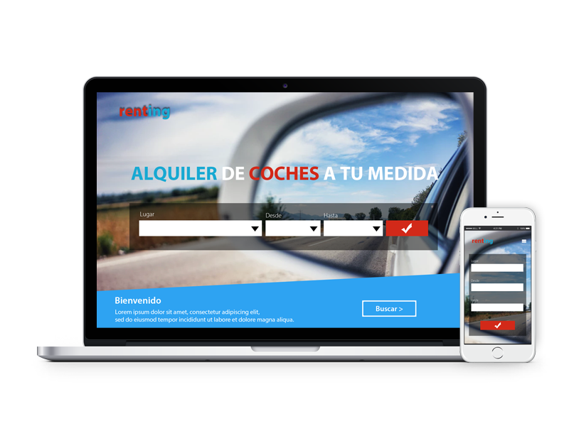 Diseño web alquiler de vehículos