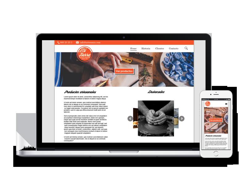 Diseño web para productos artesanales