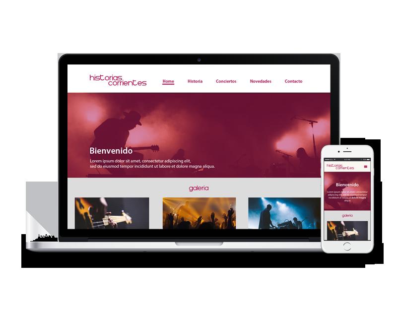 Diseño web para artísta