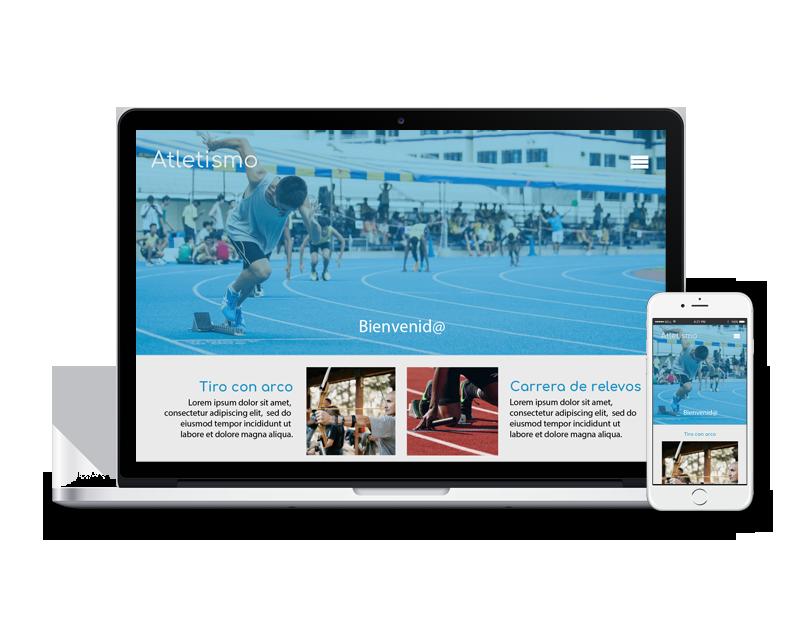 Diseño web atletismo