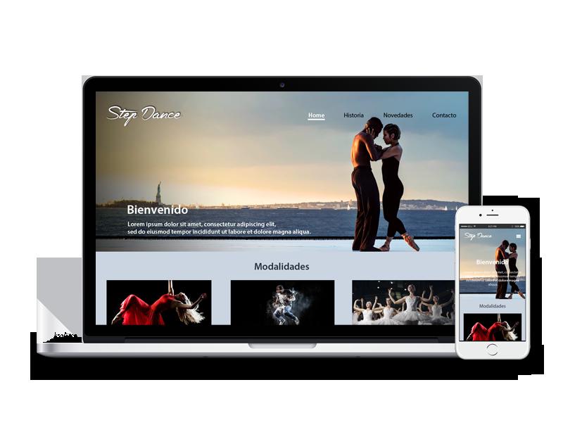 Diseño web escuela de baile