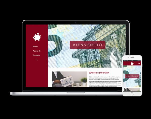 Diseño web banca