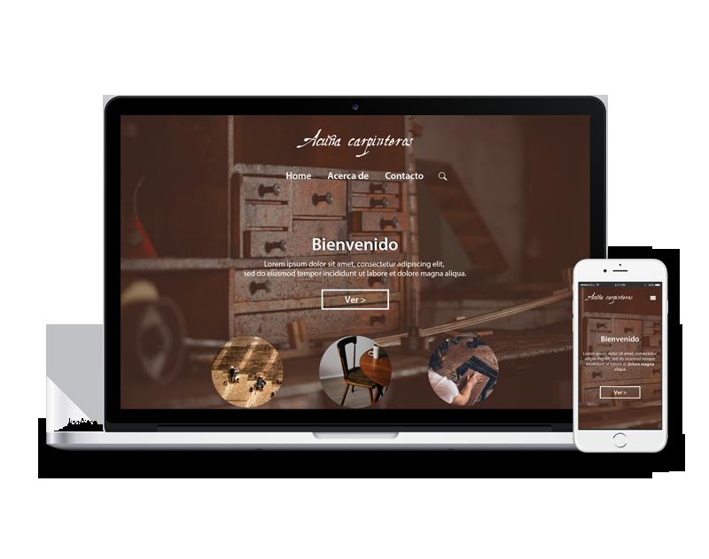 Diseño web carpintería