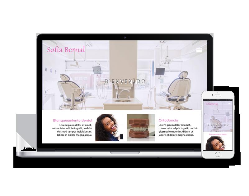 Diseño web dentista