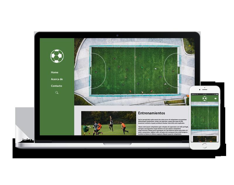 Diseño web deporte equipo