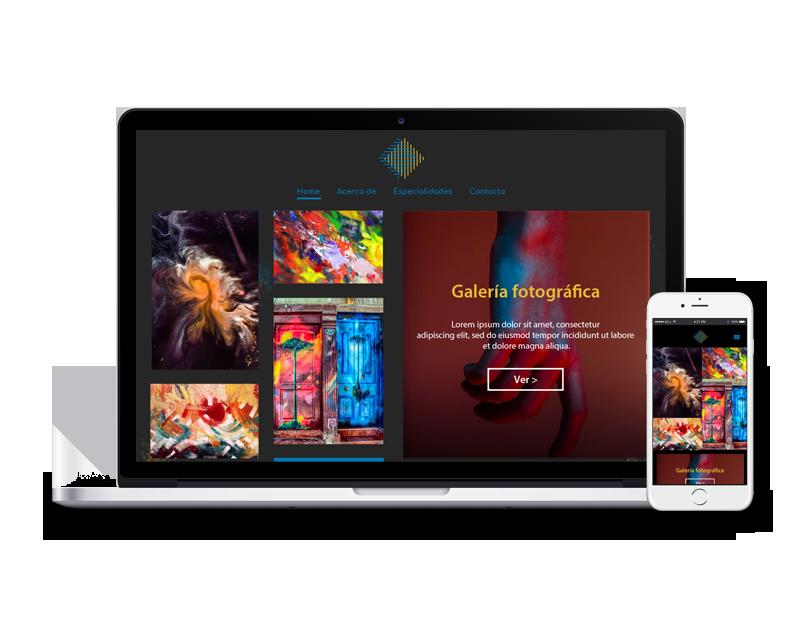 Diseño web exposicion arte