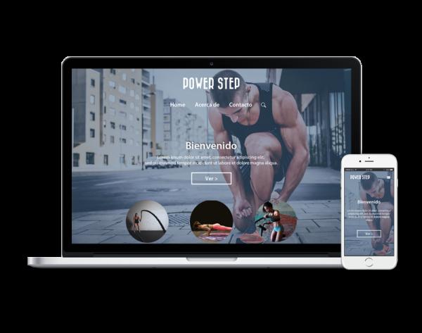 Diseño web fitness