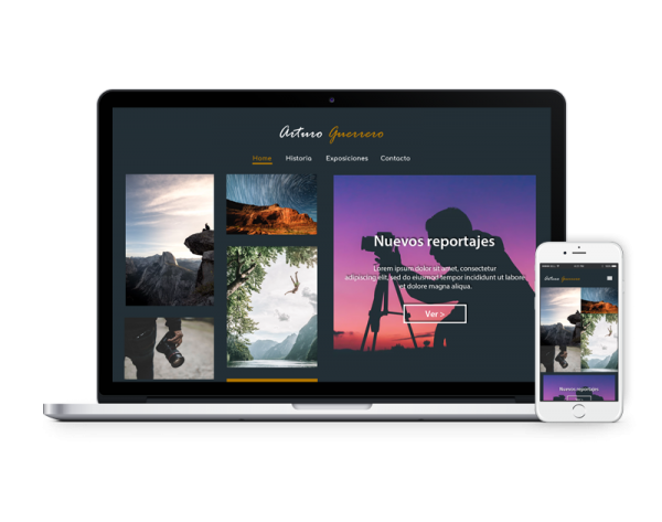 Diseño web fotógrafo