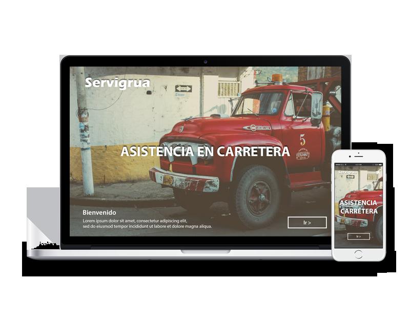 Diseño web gruas