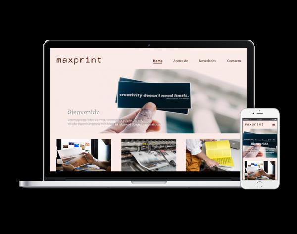 Diseño web imprenta