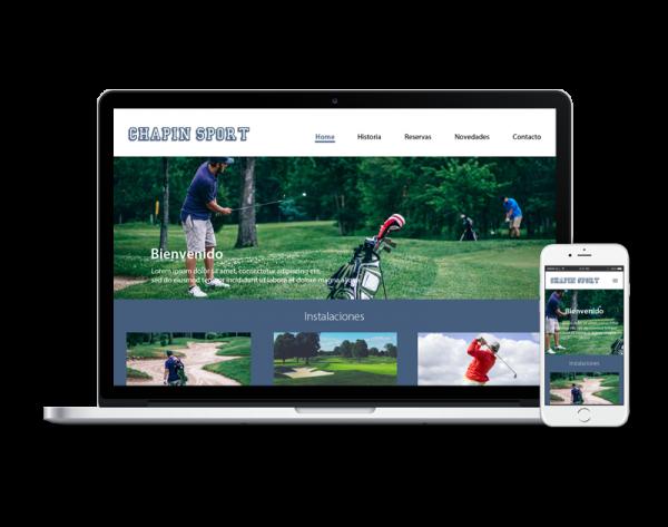 Diseño web instalaciones deportivas