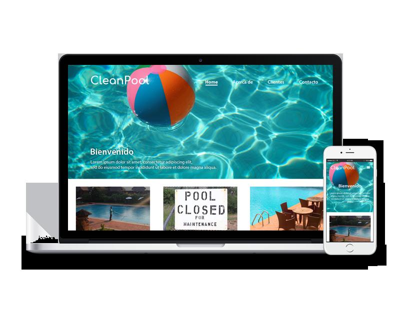 Diseño web mantenimiento piscina
