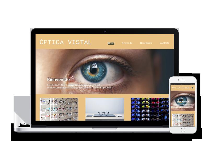 Diseño web óptica