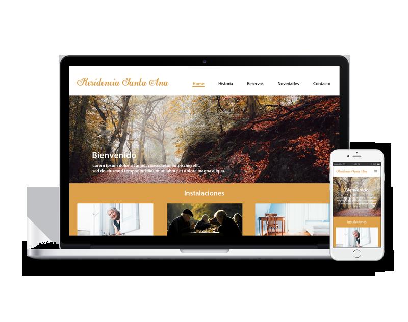 Diseño web residencia ancianos