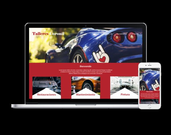 Diseño web taller de coches